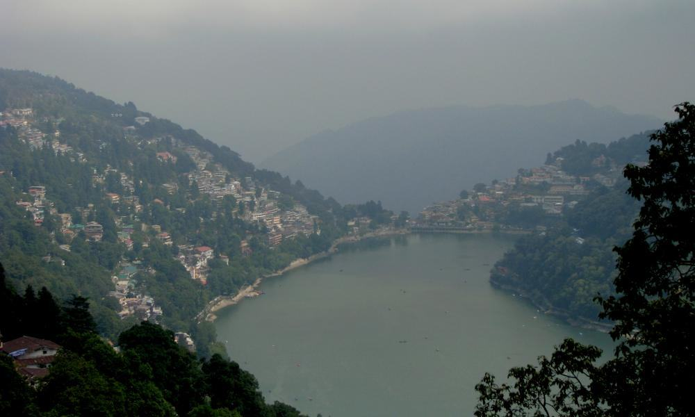 *** Индия, Гималаи, курорт Найнитал, село Баджери, озеро - india, Nainital, Bajeri village, Lake ***